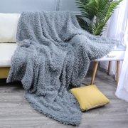 "Long Fur Throw Blanket Faux Fluffy Blanket Micro Plush Super Soft Cozy Luxury Bed Blanket Microfiber 63""x79"""