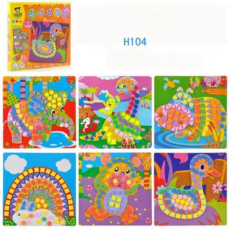 Fun Mosaic Kids Art & Craft Kit Childrens Play Activity Decoration Sticker Set