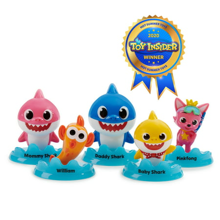 Pinkfong Baby Shark Official 5-Figure Pack - Baby Shark and Friends - by WowWee