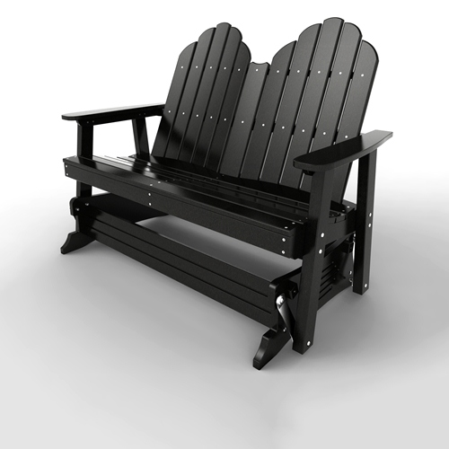 Double Glider by Malibu Outdoor - Yarmouth, Black