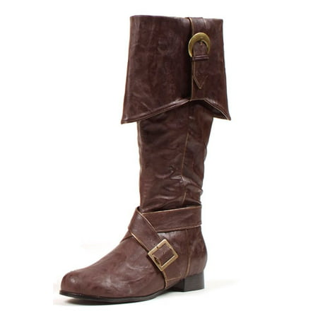 Mens Knee High Pirate Boots Brown Halloween Accessory](Knee Boots Men)