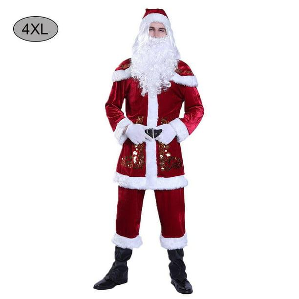 Santa Claus Christmas Costume Dress Masquerade Men S Costume Adult Cosplay Character Clothes Set Walmart Com Walmart Com