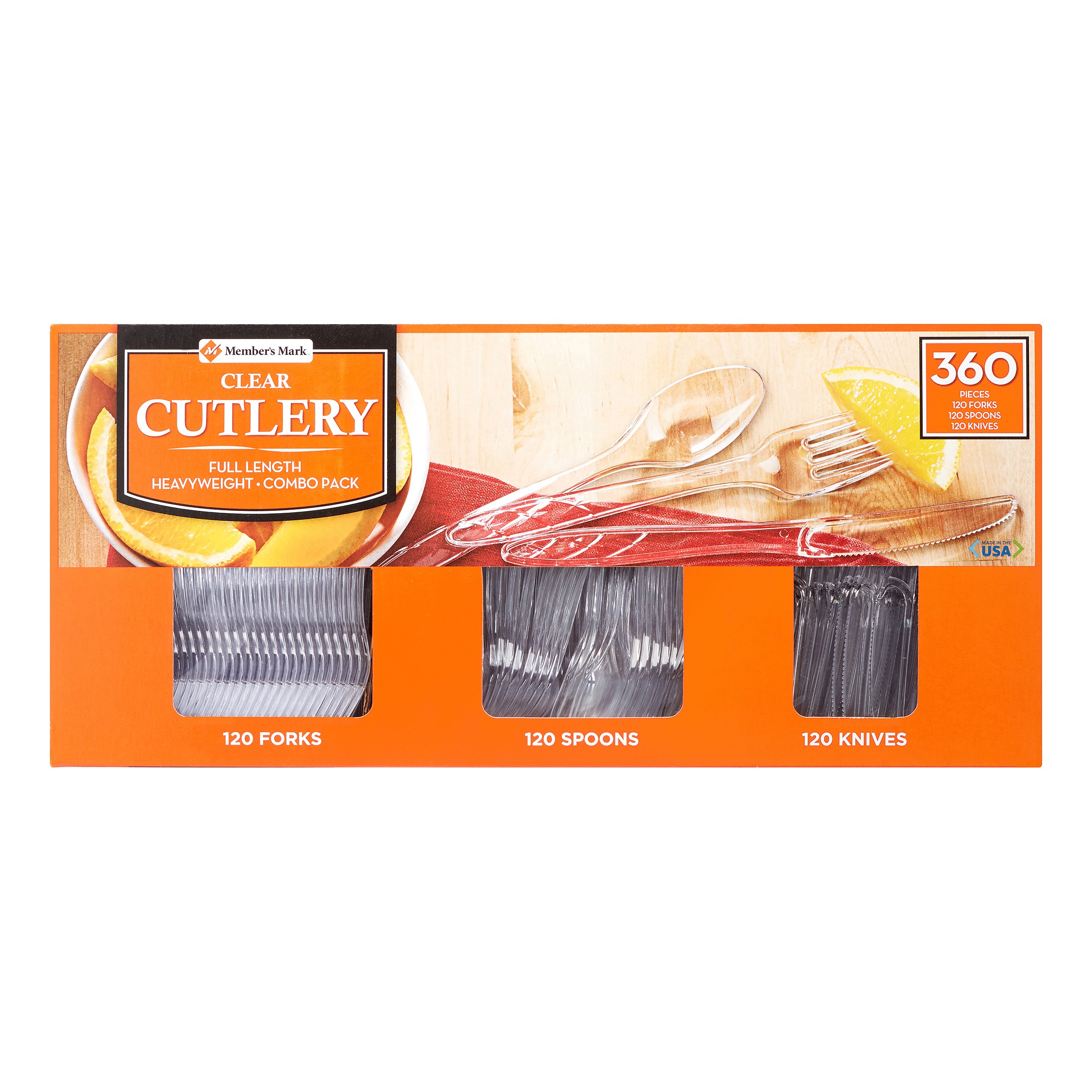 Daily Chef Cutlery Combo Pack, Clear, 360 Ct