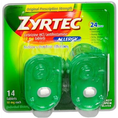 Zyrtec Allergy 10 mg comprimidos Blister 14 comprimidos (paquete de 6)