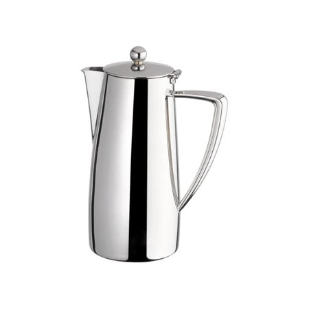 Mirrored Lid - Winco Z-MC-CP64, 64 oz Cadenza Monte Carlo Coffee Server with Hinged Lid, 18/10 Stainless Steel, Mirror Finish