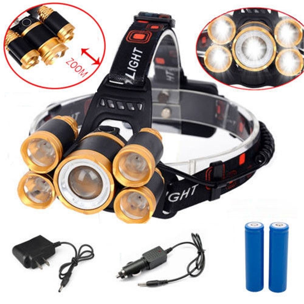 120000LM 8x T6 LED Rechargeable Headlamp Headlight 18650 Head Torch Light Lamp Z