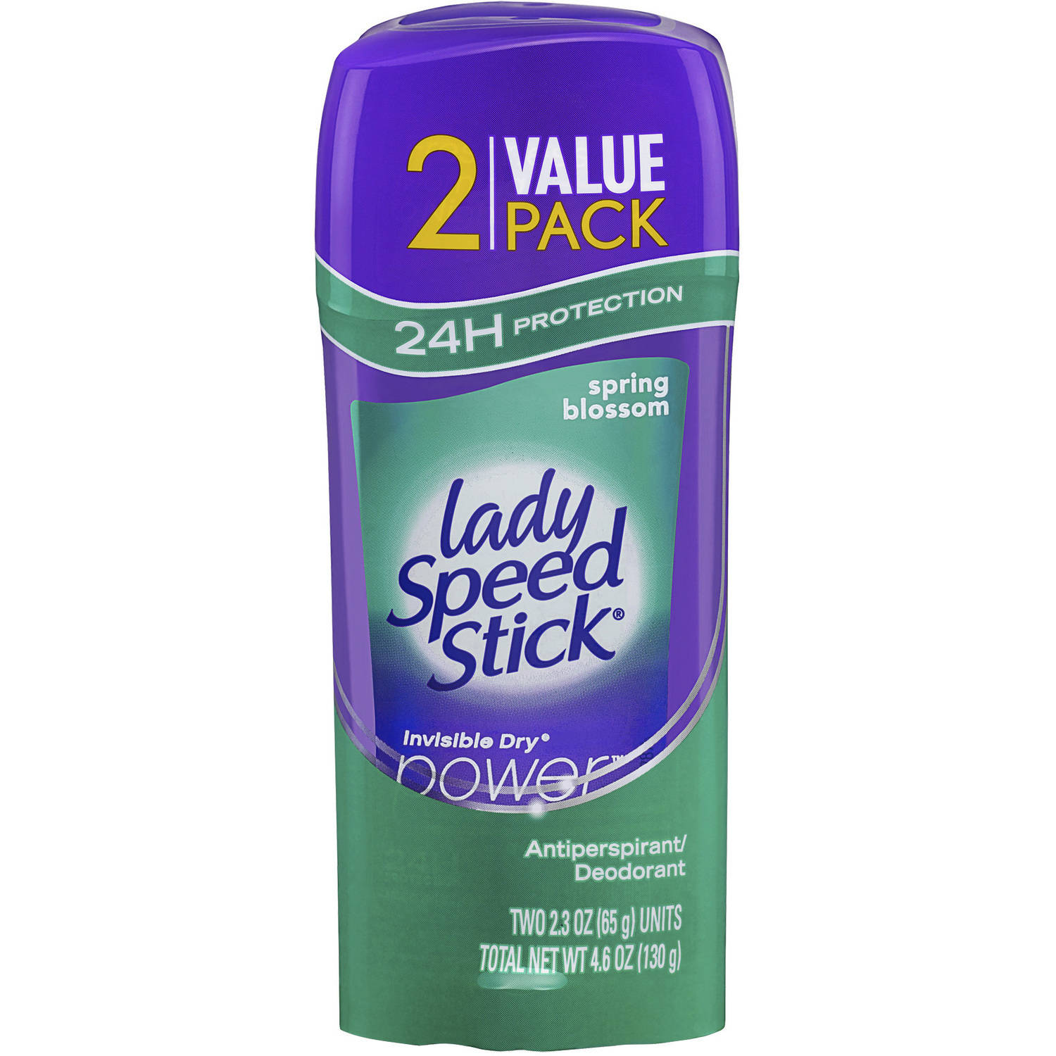 Lady Speed Stick Invisible Dry Power Spring Blossom Antiperspirant Deodorant, 2.3 oz, 2 count