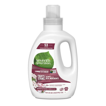 Seventh Generation Geranium Blossom & Vanilla Concentrated Liquid Laundry Detergent 40 oz