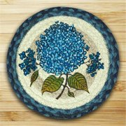 Earth Rugs 80-362BH Round Miniature Swatch, Blue Hydrangea, printed