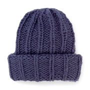 Wide Cuff Cable Knit Beanie