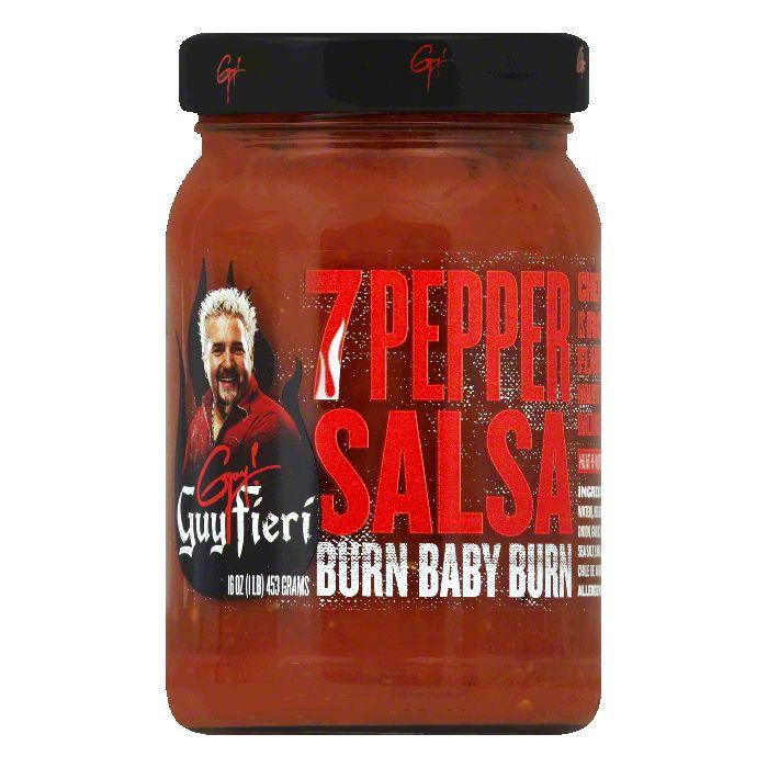 Guy Fieri 7 Pepper Salsa, 16 OZ (Pack of 6)
