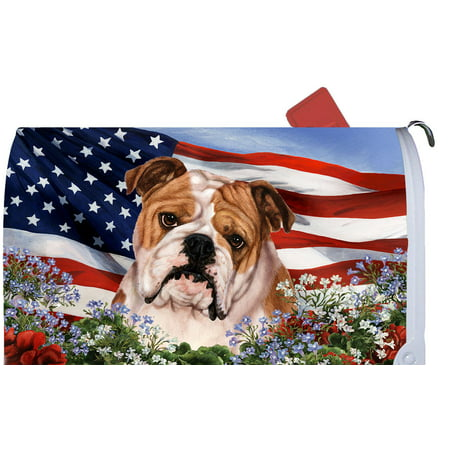 Bulldog - Best of Breed Patriotic I Dog Breed Mail Box Cover (Georgia Bulldog Mailbox Cover)