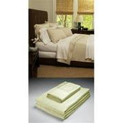 Home Source 50500KGN01 100 Percent Bamboo King Fkat Sheet - Ivory