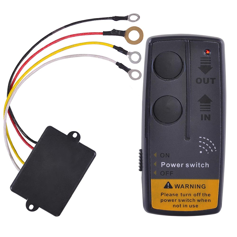 yescom 65ft wireless winch remote control kit for jeep atv suv utv