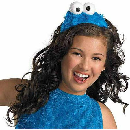 Sesame Street Cookie Monster Headband Adult Halloween Costume Accessory - Halloween Town Monster Maker