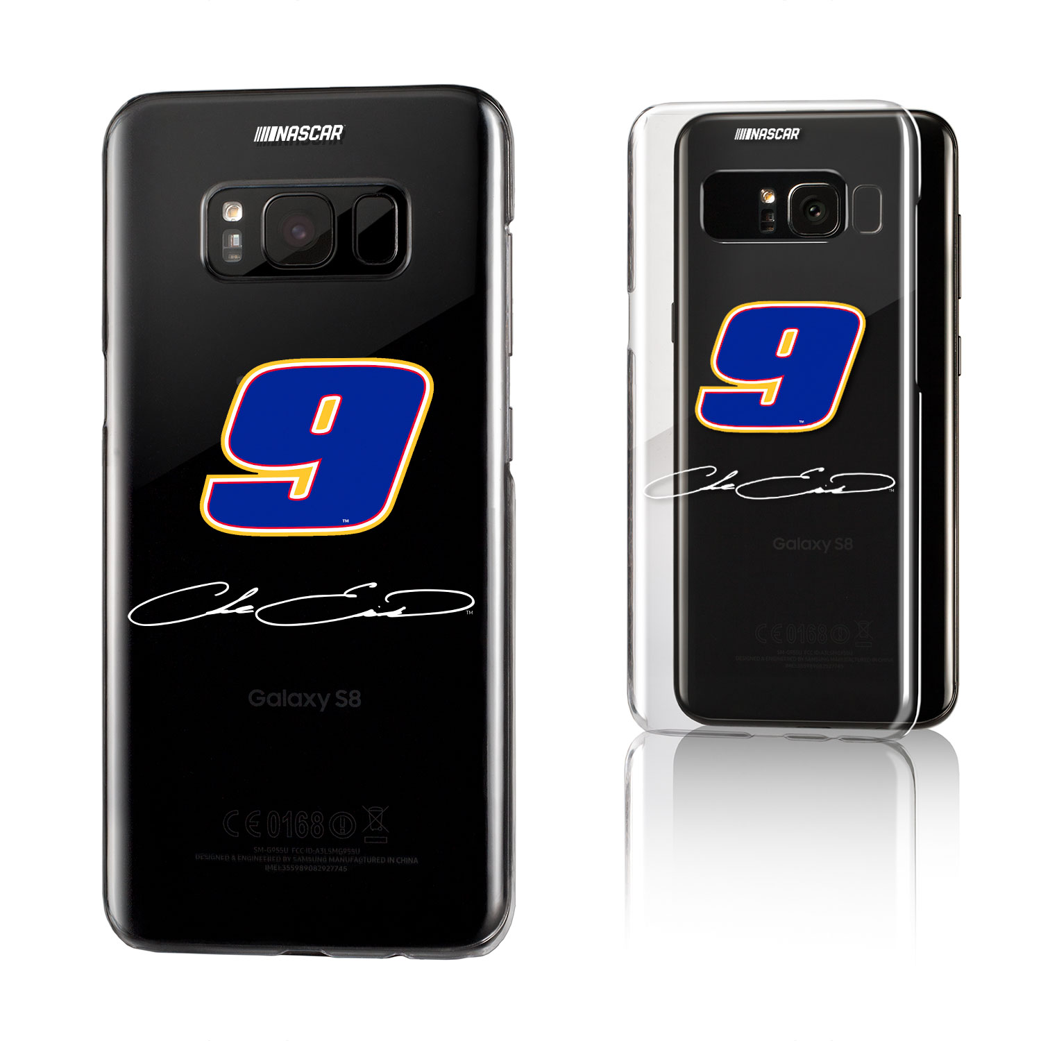 Chase Elliott Insignia Clear Case for Galaxy S8