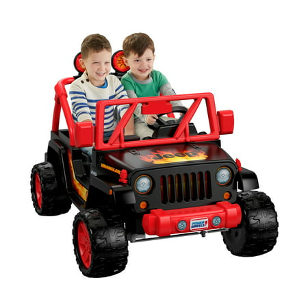 c48d399a39a Power Wheels Tough Talking Jeep Wrangler Ride-On Vehicle - Walmart.com