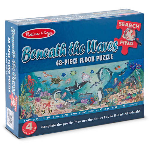 Melissa & Doug Search and Find Beneath the Waves Floor Puzzle (48 pcs, over 4 feet long) by Generic