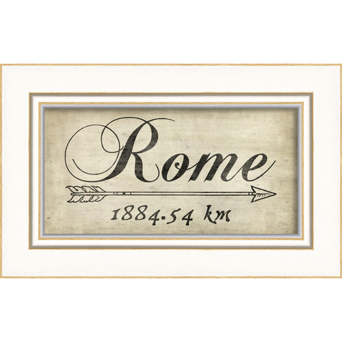 The Artwork Factory Rome 1884Km Framed Textual Art