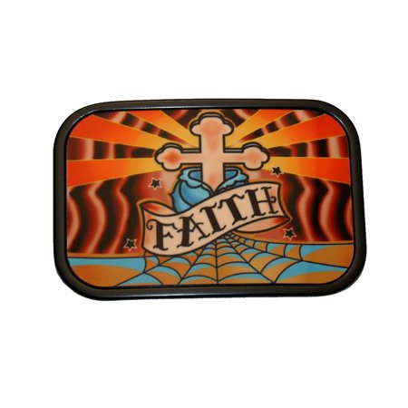 Faith Cross Belt Buckle Tattoo Symbol](Faith Tatoos)