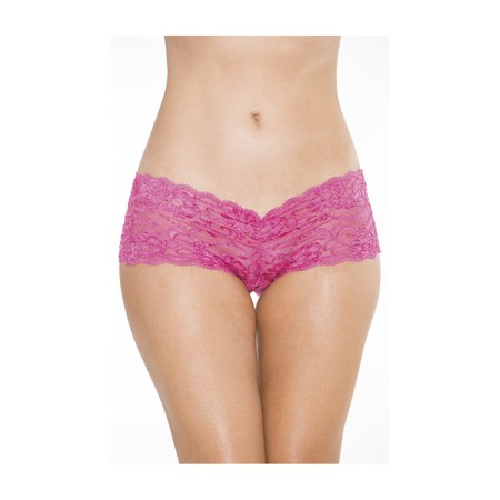 Crotchless Low Rise Lace Boyshort, Lace Boyshort -