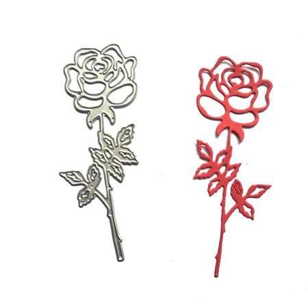Metal Rose Flower Cutting Dies Die Cutter for Making Delicate Cards Photo