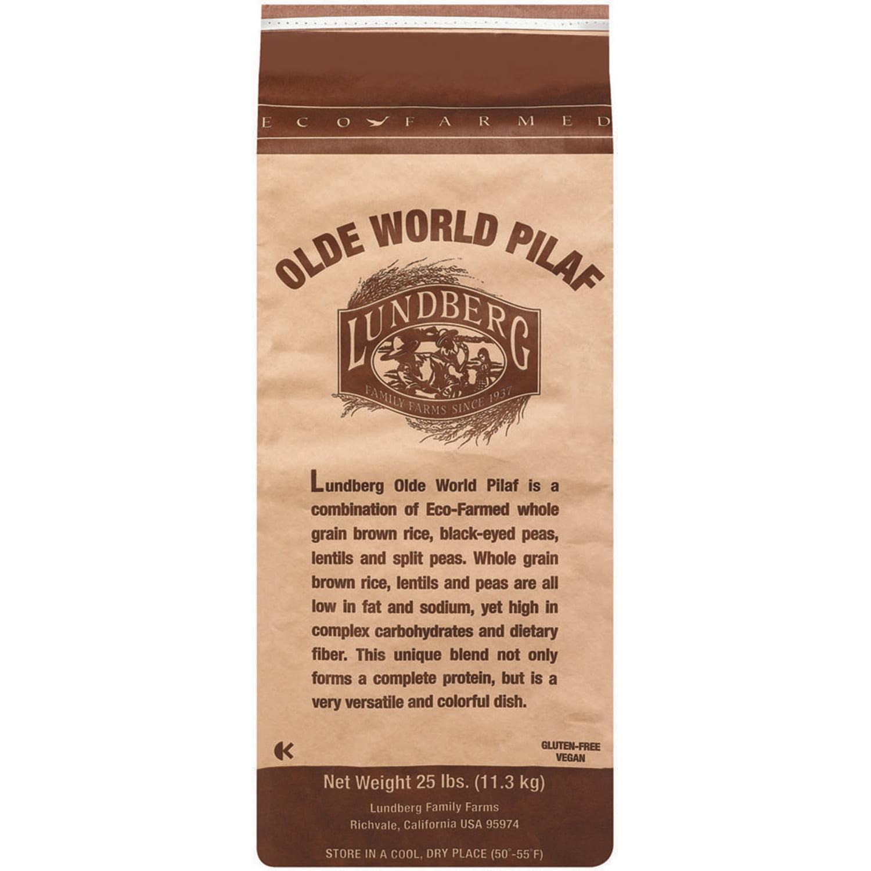 Lundberg Family Farms Ef Olde World Pilaf Brown Rice Lentil Blend Eco Farmed 25 Lb Rice 25 Lb Bag Walmart Com Walmart Com