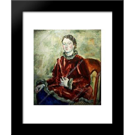 (A girl in a velvet coat 20x24 Framed Art Print by Pyotr Konchalovsky)