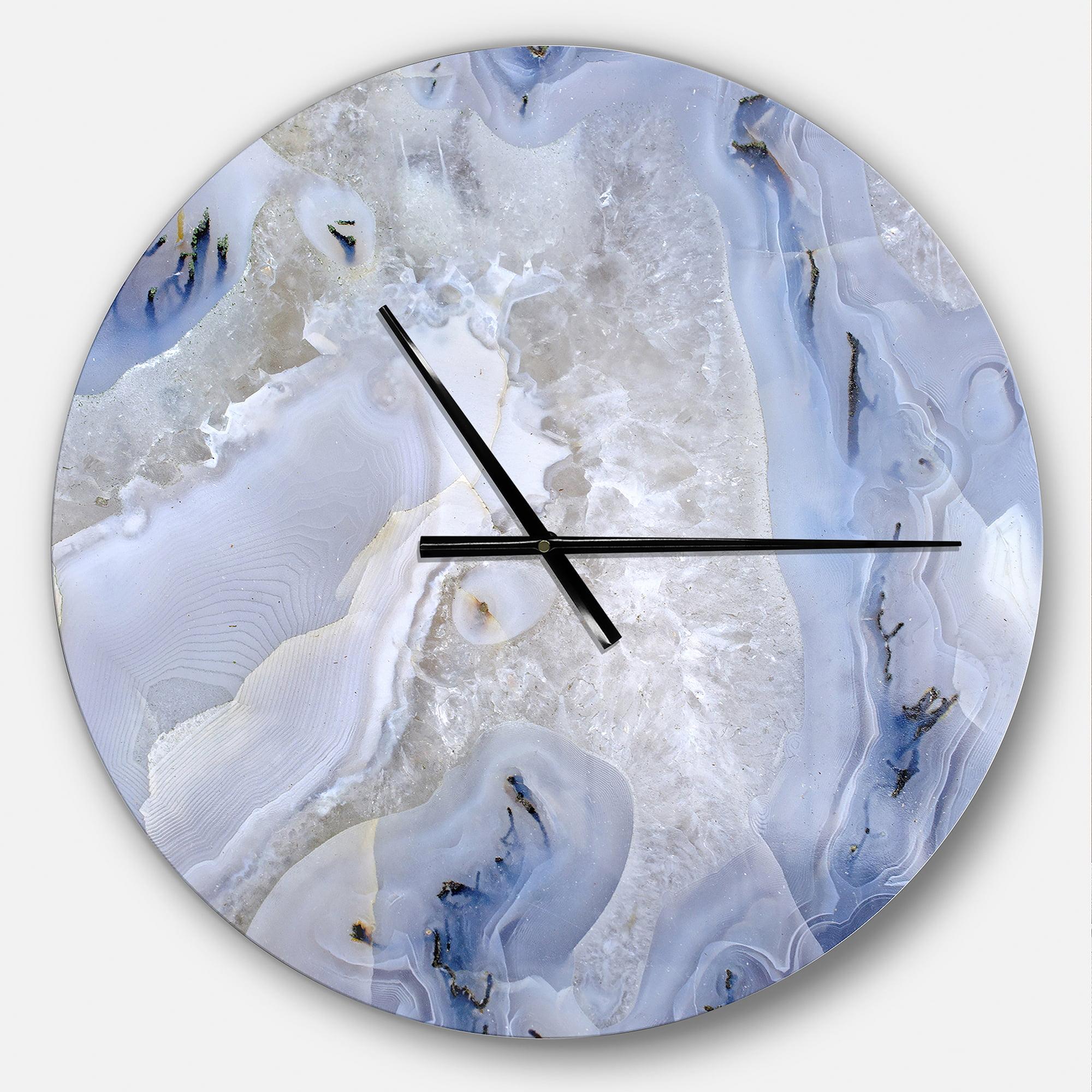 Designart Agate Stone Modern Wall Clock Walmart Com Walmart Com