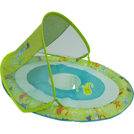 Swimways Baby Spring Float Sun Canopy Green Walmart Com