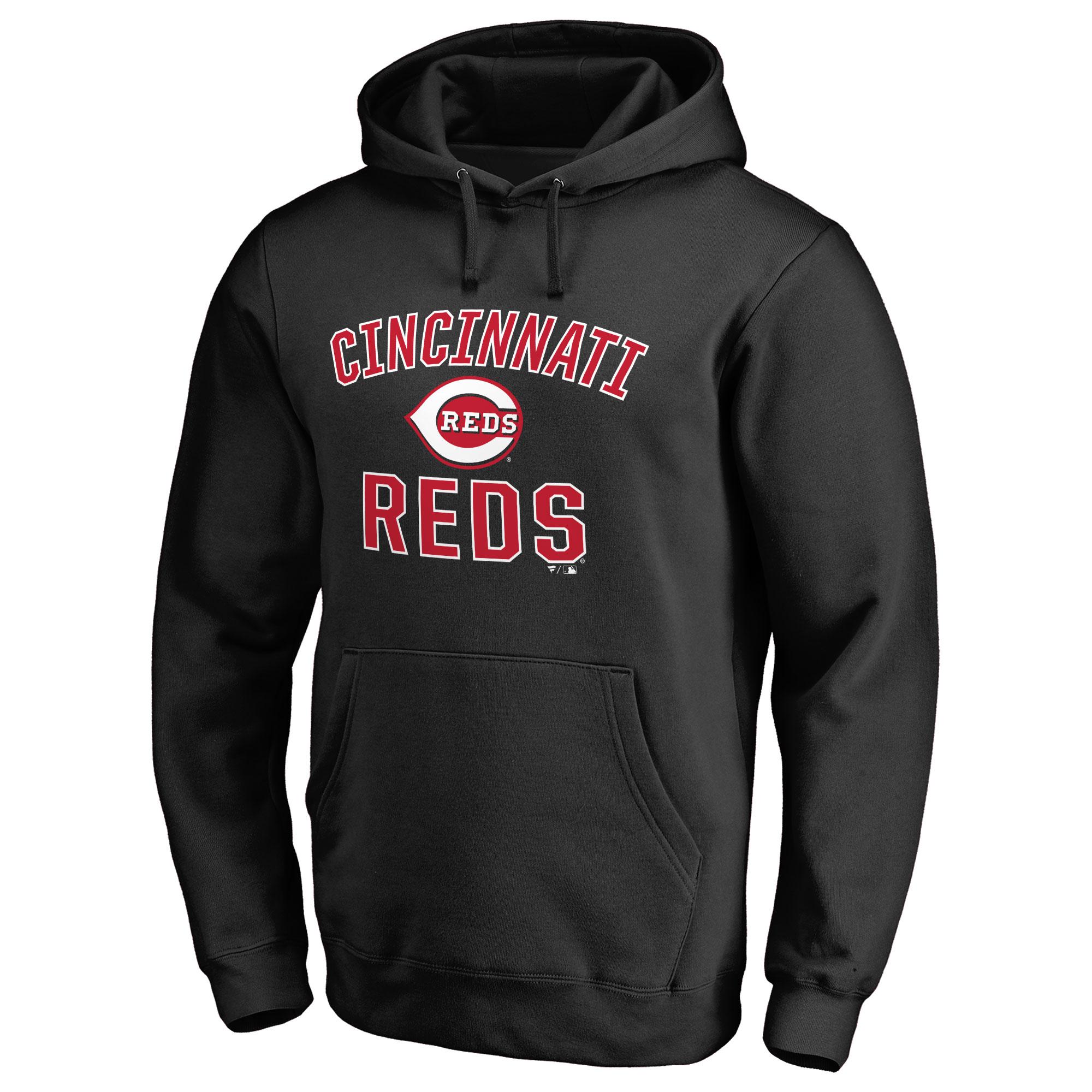 Cincinnati Reds Victory Arch Pullover Hoodie - Black