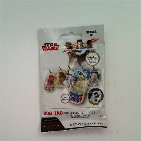 Star Wars The Last Jedi Dog Tag with Candy Pieces (Star Wars Candy)
