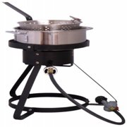 """King Kooker 16"""" Propane Outdoor Cooker with Stainless Steel Fry Pan and Basket"""