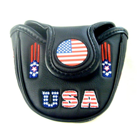 NEW USA America Flag Fits Odyssey Mallet 2-Ball Magnetic Putter - Badger Headcover