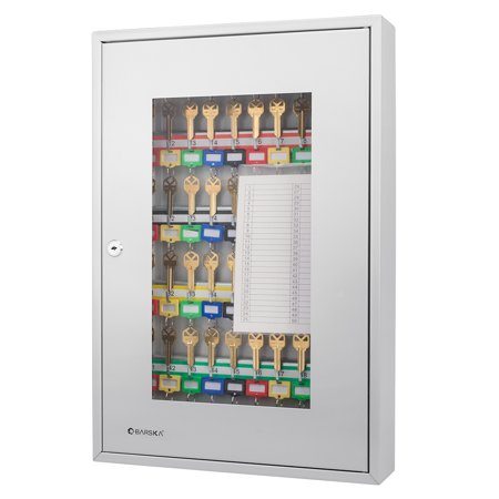 Barska 50 Position Key Security Wall Cabinet Lock Box with Glass