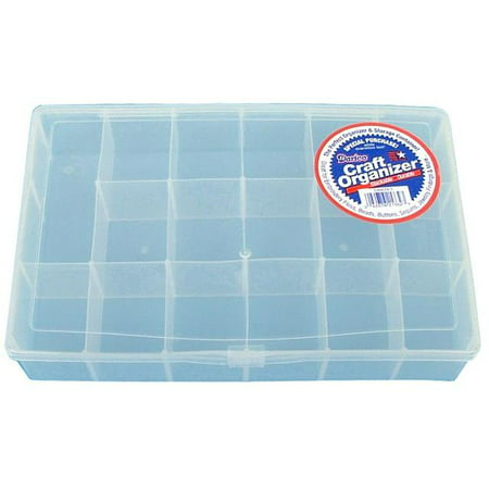 Darice Craft Organizers Clear Plastic 17 Compartment Organizer Box, 1 Each