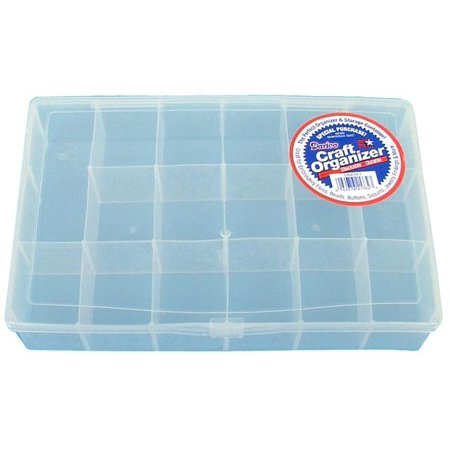 Darice Craft Organizers Clear Plastic 17 Compartment Organizer Box, 1