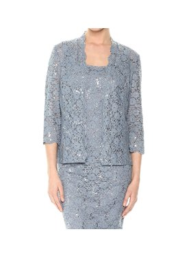 Two-Piece Lace T-Length Jacket and Dress Set
