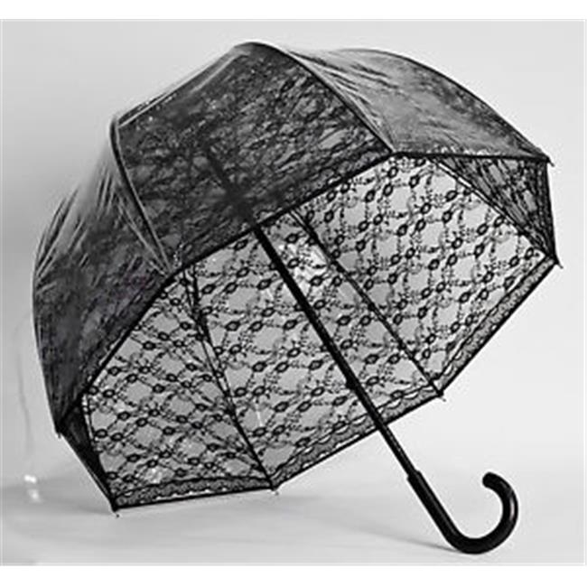 Elite Rain Frankford RF01-BL Premium Fiberglass Bubble Umbrella, Black Lace