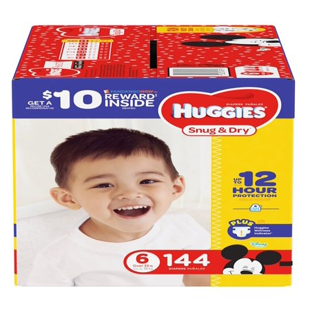 Huggies Snug & Dry Diapers Size 6 -144 ct. (35+ lbs.) - Bulk Qty, Free Shipping - Comfortable, Soft, No leaking & Good nite Diapers](Diy Diaper)