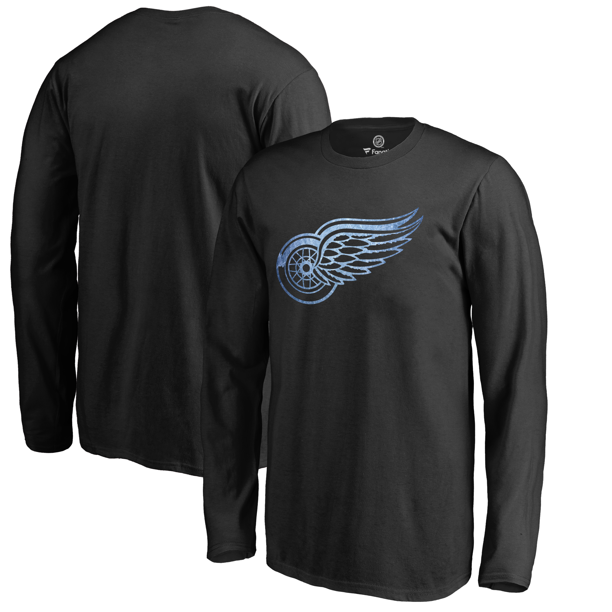 Detroit Red Wings Youth Pond Hockey Long Sleeve T-Shirt Black by Football Fanatics/Ruppshirts