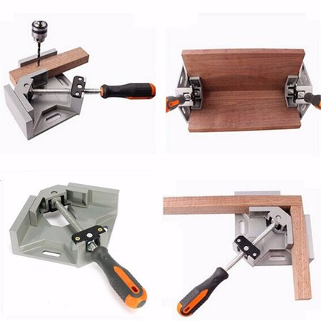 - 90 Degree Corner Right Angle Carbide Vice Clamps Woodworking Metal Welding Frame Gussets Jig Tool