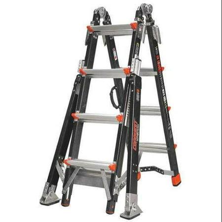 Little Giant Aluminum Multipurpose Ladder 15144 251 Walmart