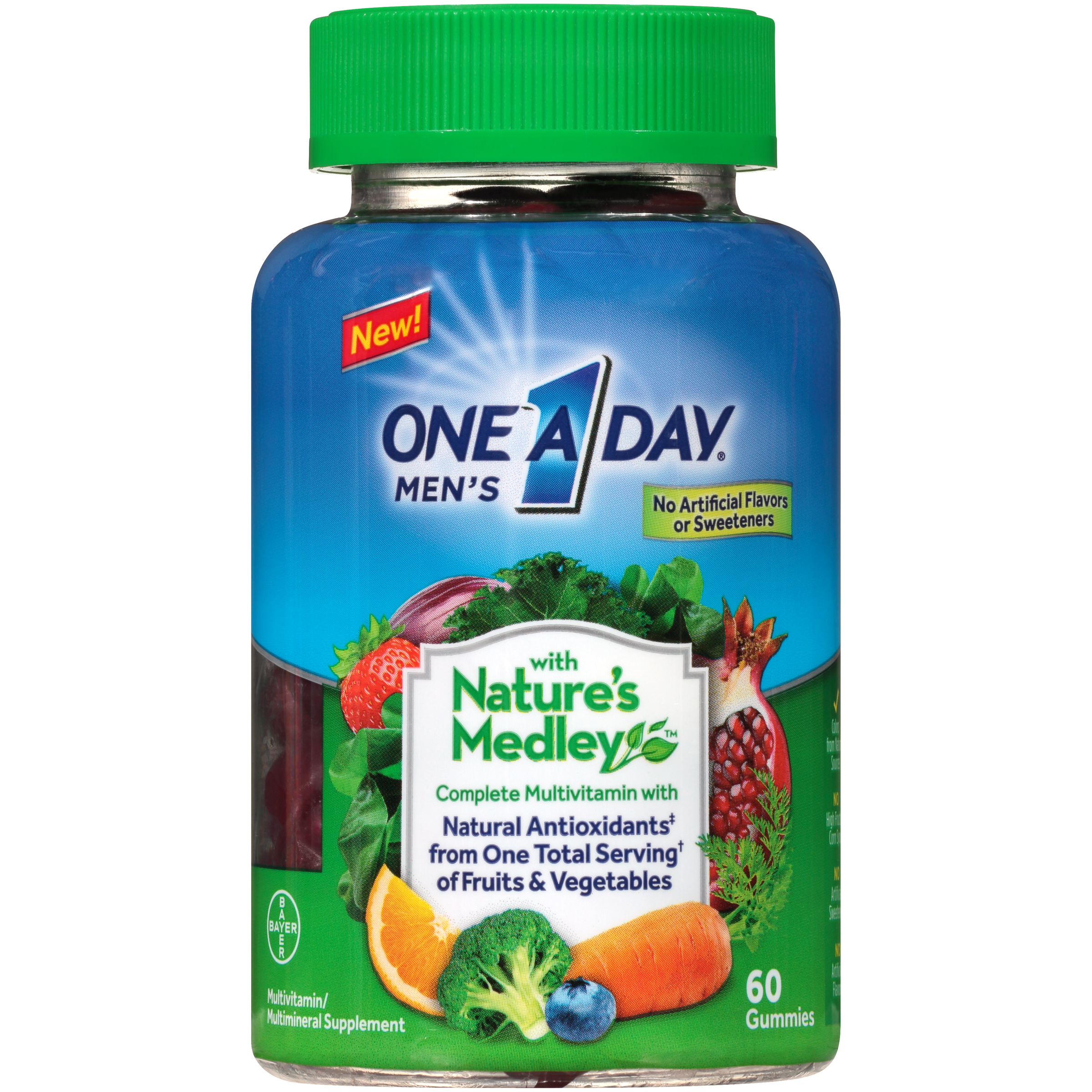One A Day Men's with Nature's Medley Multivitamin Gummies, 60 Count
