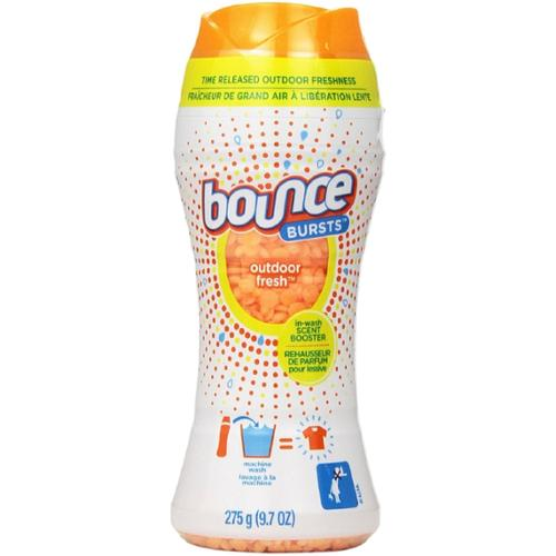 Bounce Bursts In-Wash Scent Booster, Outdoor Fresh 9.70 oz (Pack of 4)