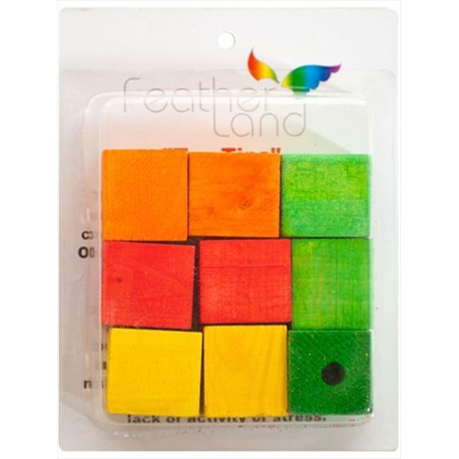 Caitec 578 1 1/2 inch x 1 1/2 inch Wood Blocks - Pack of 9
