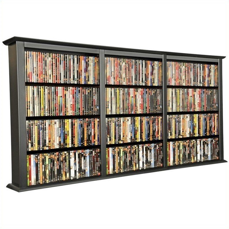 Venture Horizon Triple Wall Mount Media Cabinet in Black