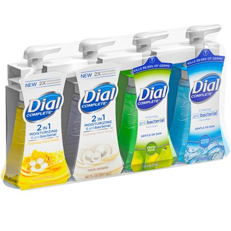 Dial Complete Foaming Hand Wash, Variety Pack of 4 Flavors Dial Foaming Antimicrobial Soap