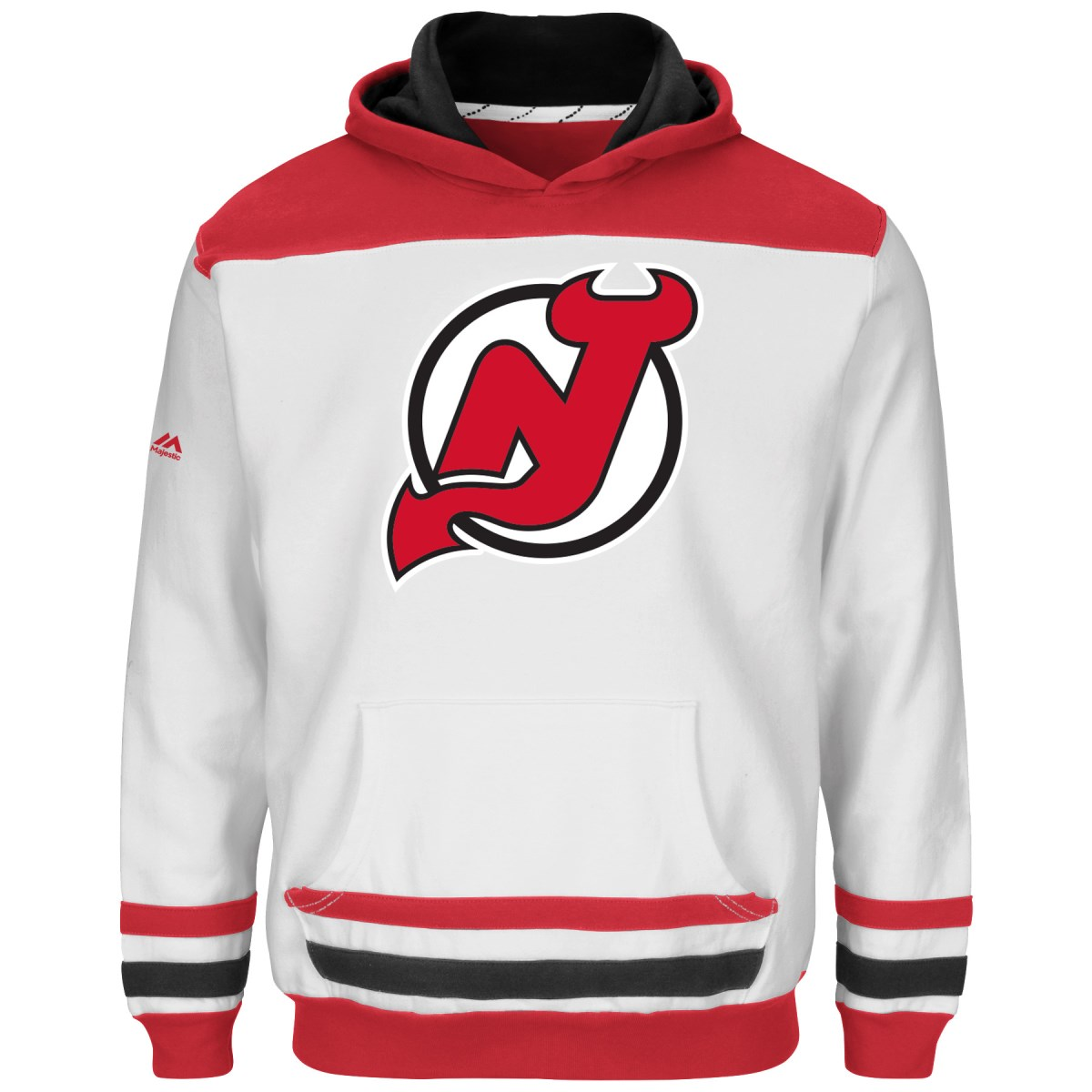 "New Jersey Devils Youth Majestic NHL ""Lil' Double Minor"" Hooded Sweatshirt"