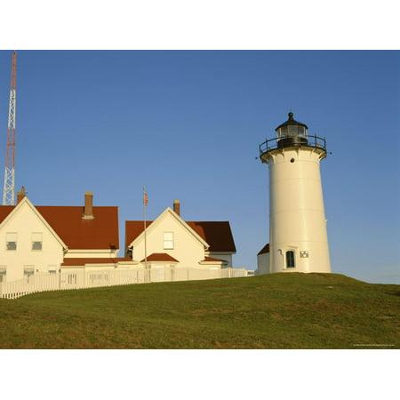 Nobska Lighthouse - Exterior of Nobska Point Lighthouse, Woods Hole, Cape Cod, Massachusetts, USA Print Wall Art By Fraser Hall